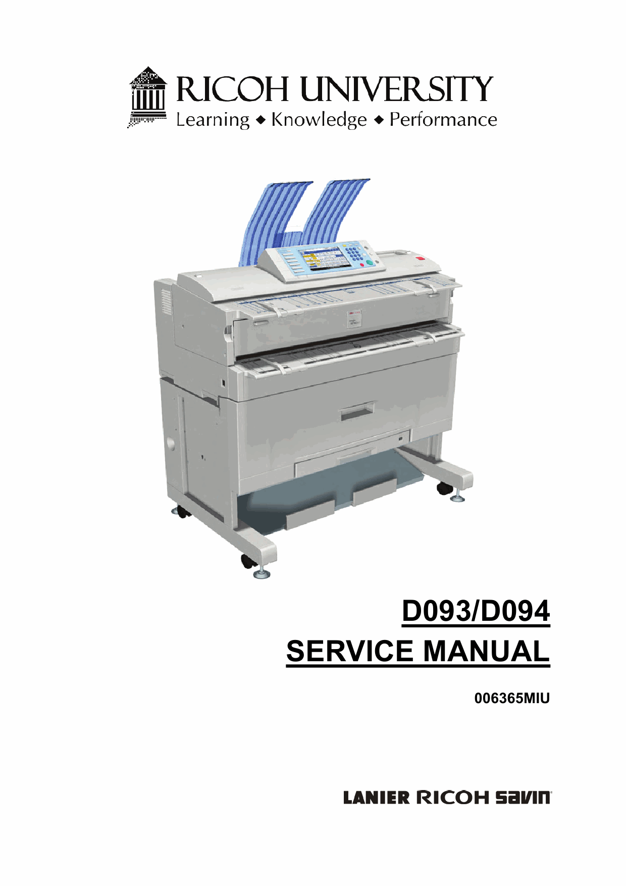 RICOH Aficio MP-W2401 W3601 D093 D094 Service Manual-1